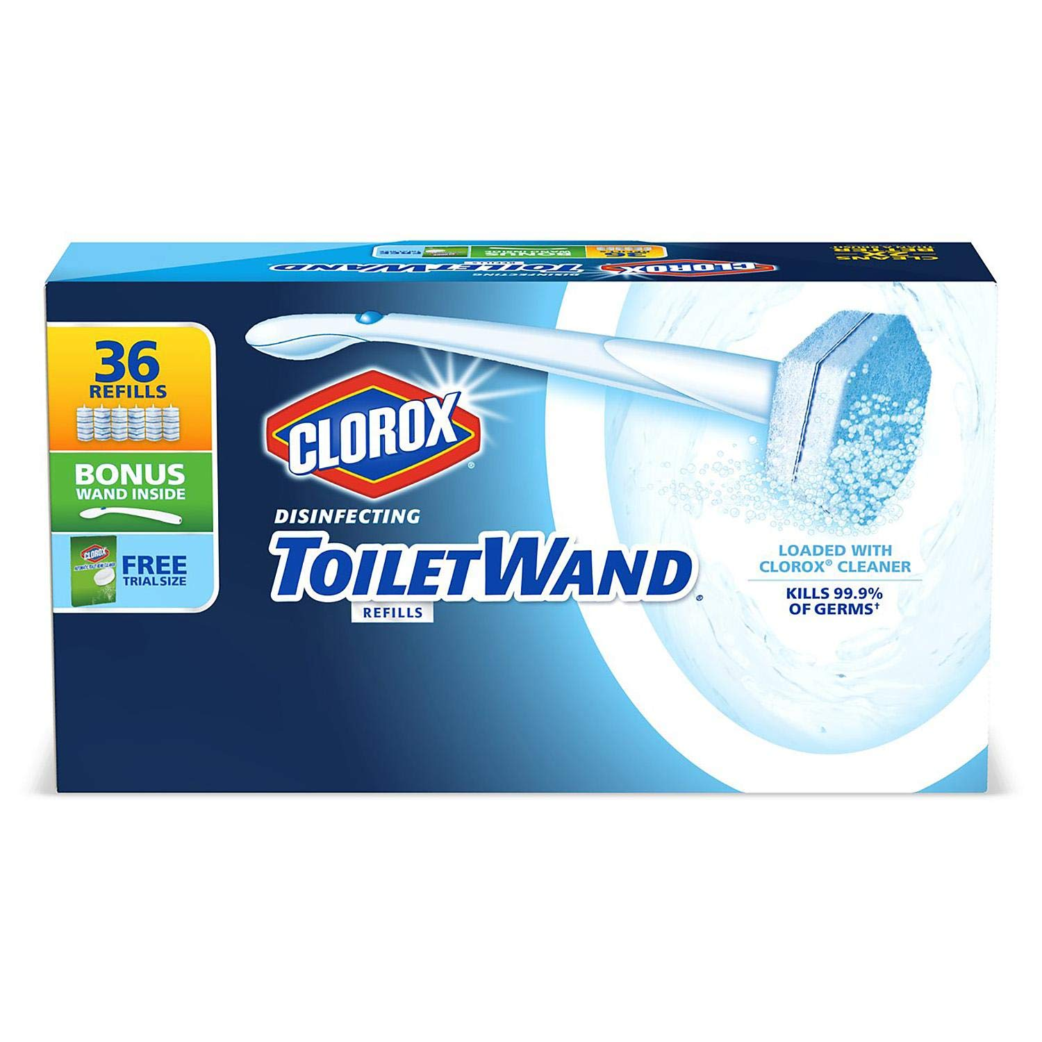 ToiletWand Disinfecting Refills, Disposable Wand Heads - 30 Count (2 Pack) by Clorox