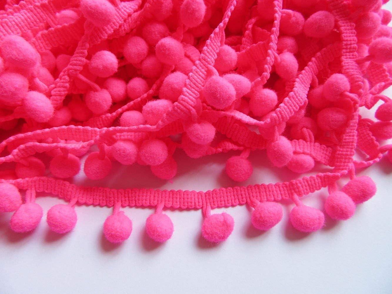 Healifty Pom Pom Trim Ball Franja de Costura de Encaje para Costura Decoraci/ón 4.5 m Verde