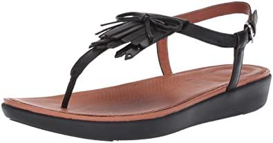 06a4ac269 FitFlop Women s TIA Fringe Toe Thong Sandals-Leather Flat