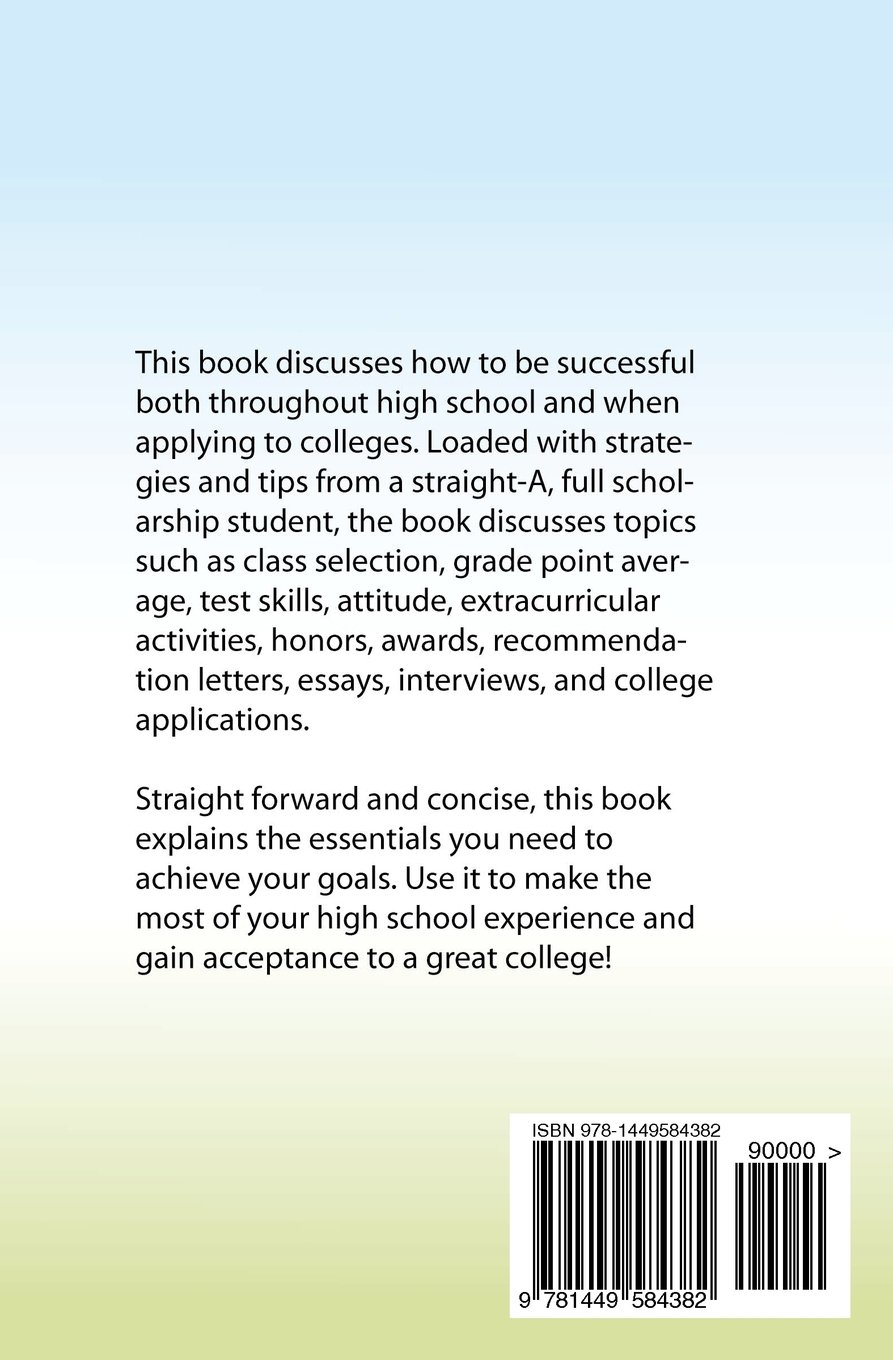 Amazoncom High School Success And College Application  Amazoncom High School Success And College Application   Anthony Freeman Books