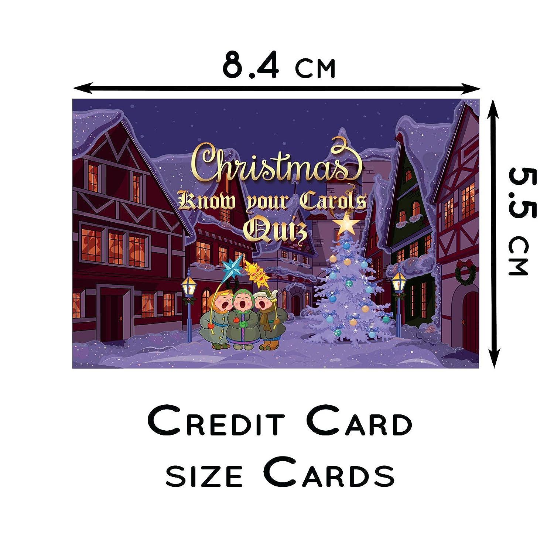 Know Your Christmas Carols Kartenspiel für Familie, Weihnachten, Eve ...