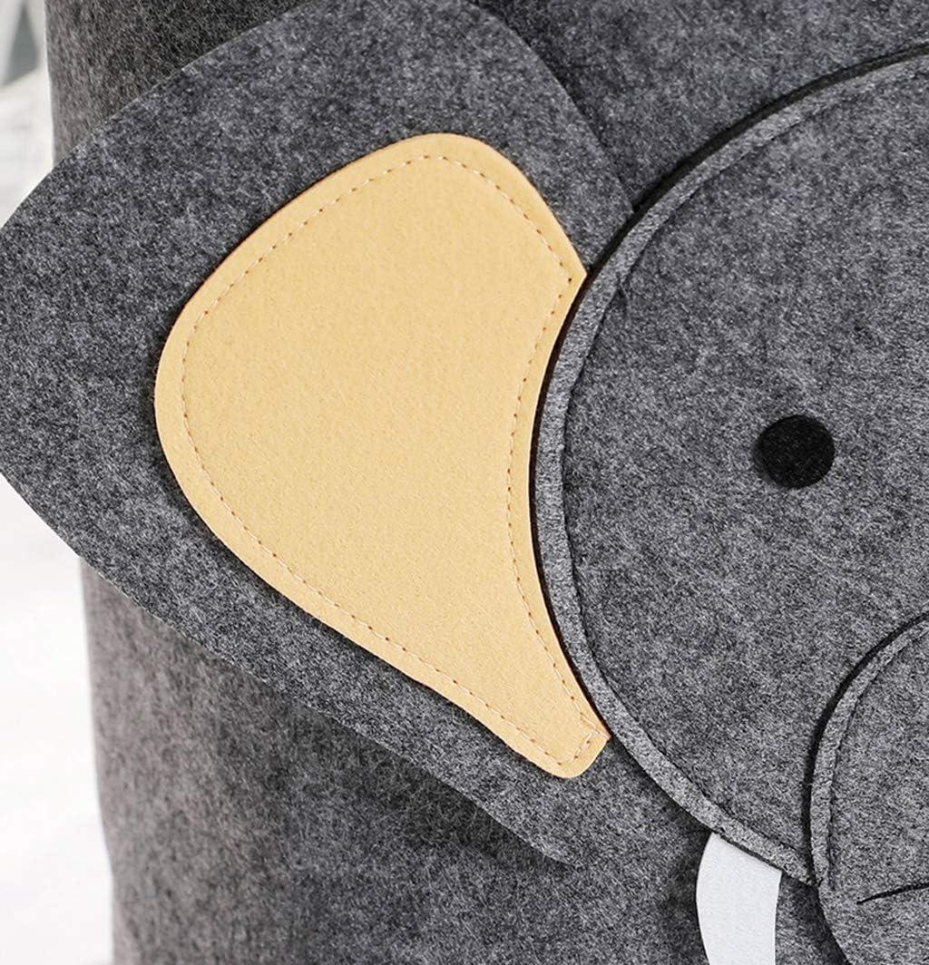 FEFCK Panier À Linge, Corbeilles À Linge Hamper Panier, Panier Kid Jouet De Stockage, Coton Cartoon Animaux Et Lin Matériel 35 * 35 * 37cm C A