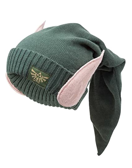 36c1d33556a Nintendo Official Legend of Zelda Link Elven Ears Cosplay Character Beanie  Hat  Amazon.ca  Clothing   Accessories