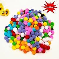 JIM'S STORE 10mm Mini Pompoms Coloridos Balls