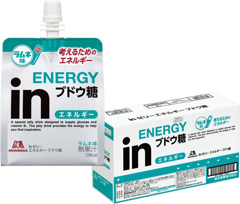 inゼリー エネルギー ブドウ糖 ラムネ味 (180g×6個) 考えるエネルギー補給 10秒チャージ ぶどう糖30g ビタミンB1配合
