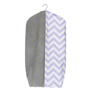Sweet Potato Swizzle Diaper Stacker, Purple/Grey/White