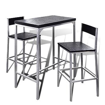 vidaxl set da bar alto contatore colazione tavolo e sgabelli per cucina da interno