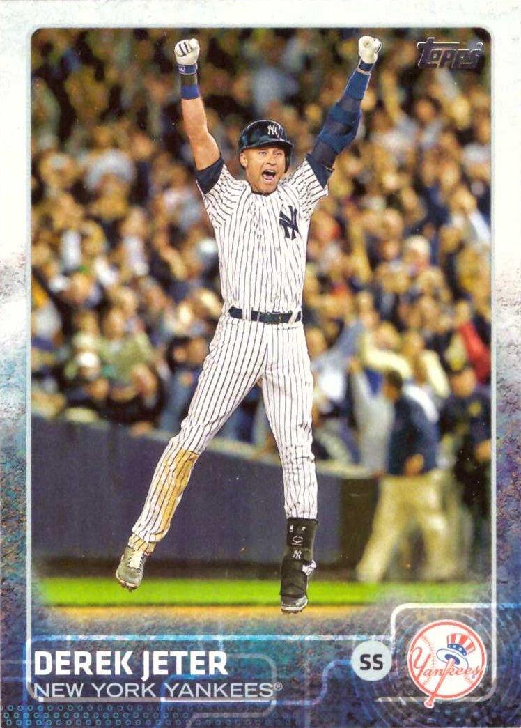 2015 Topps 1 Derek Jeter Baseball Card Game Winning Hit In Last At Bat At Yankee Stadium