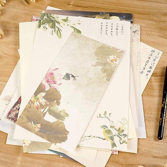 11 * 12cm 10X Toruiwa Umschl/äge Blumenmuster Briefumschl/äge Vintage Muster f/ür Hochzeit Geburtstag Party Geschenk Zuf/ällige Farbe