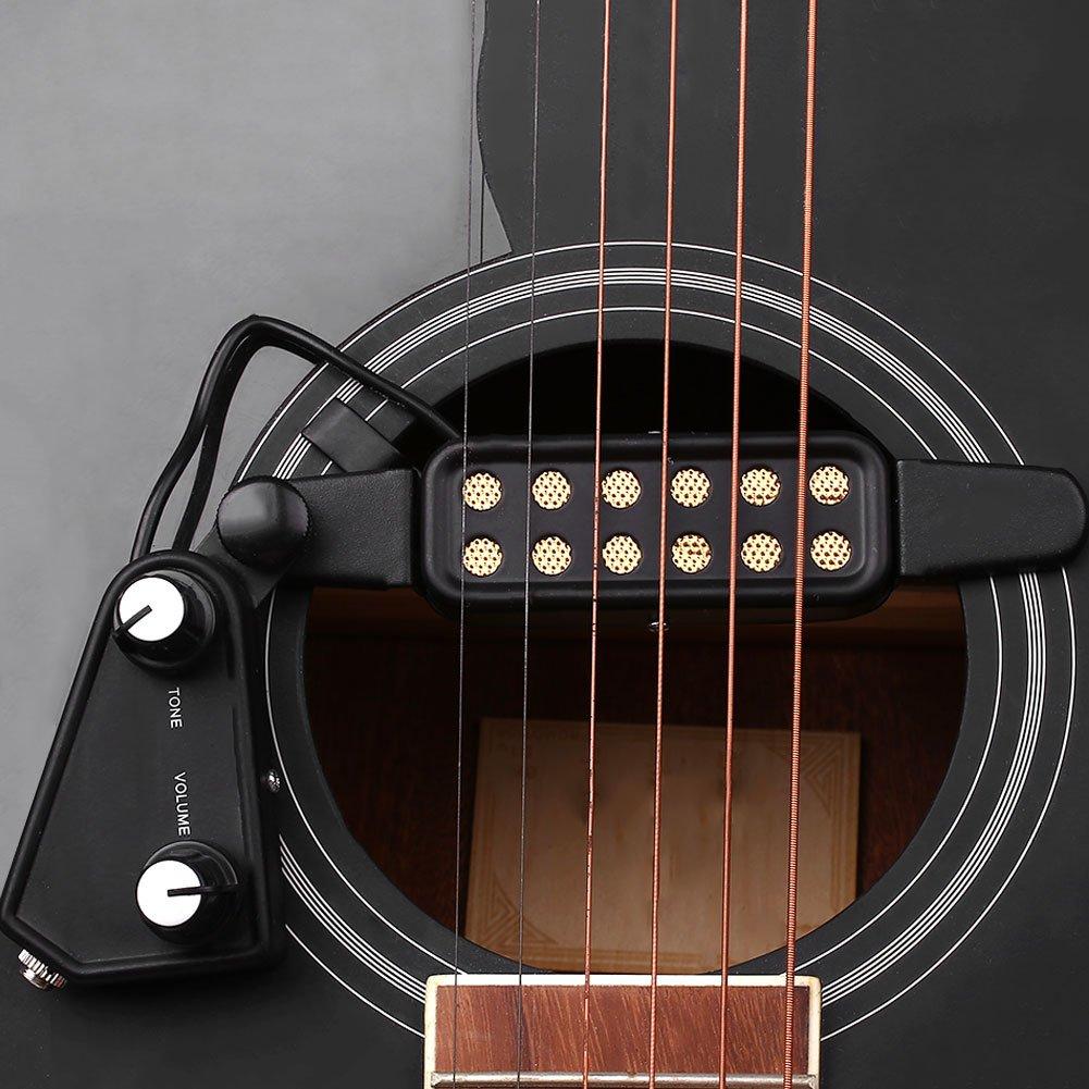 Rosepoem Pastillas de Guitarra Pastilla de Guitarra Transductor acústico eléctrico para Guitarra acústica: Amazon.es: Deportes y aire libre