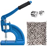 #2 Grommet Machine 600 Nickel Grommets Die Hole Punch Tool Hand Press Sign Banner by Yescom