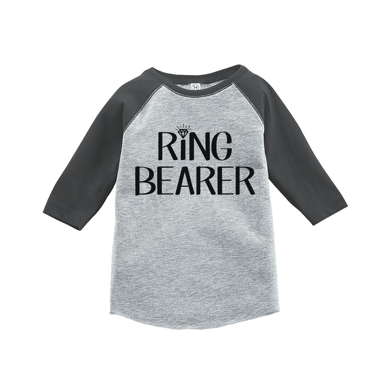 7 ate 9 Apparel Youth Boy's Ring Bearer Wedding Grey Raglan XL