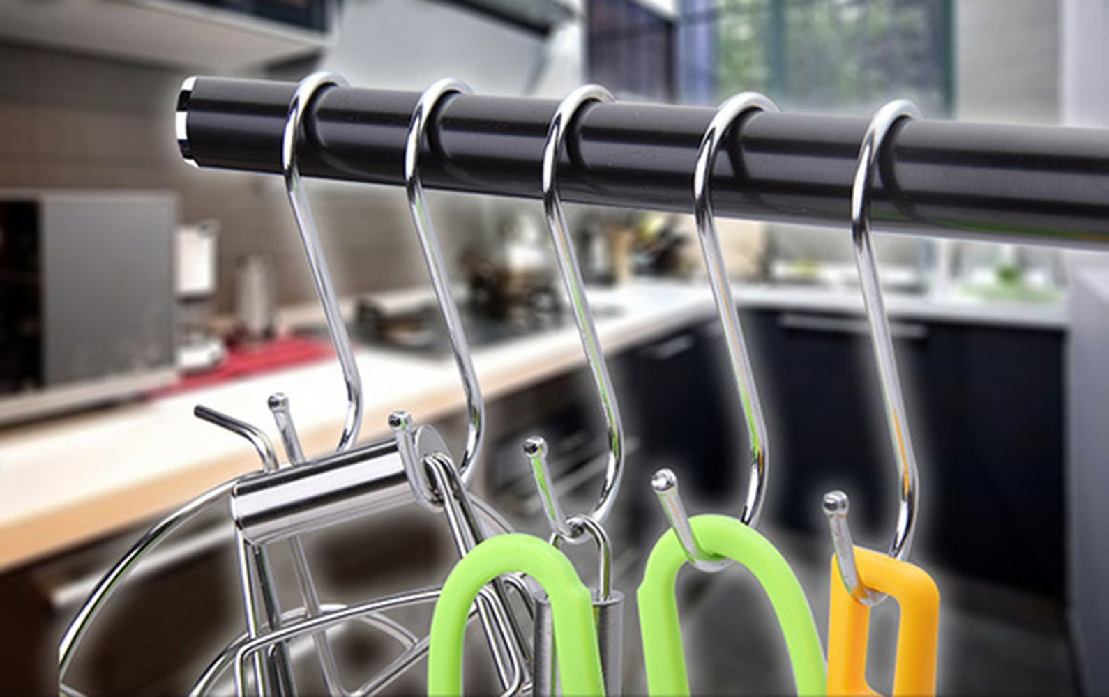 Giantstar 20 Pack  Heavy Duty S Hooks Kitchen Pot Pan Hanger Clothes Storage Rack Size:Large (20pcs/L) by Giant star (Image #4)