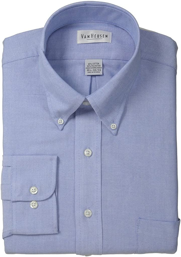 Van Heusen Mens Mens Long Sleeve Oxford Dress Shirt