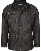 DeMina Mens Outdoor Casual Wax Jacket