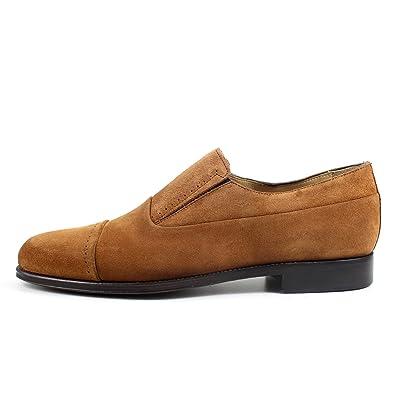 8e16799a5d0716 GIORGIO REA Chaussures Homme Marron Mocassins mâle Main Italiennes, Cuir,  élégant, Classique,