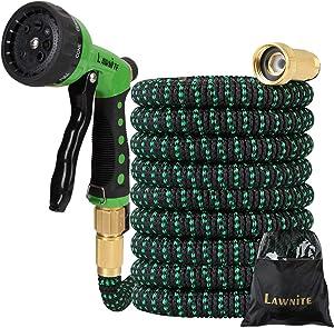 JS love Expandable 150 ft Garden Hose, 8 Function Premium Metal Sprinkler, Heavy Duty Flexible Expanding Water Hose, with 3/4