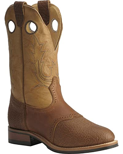17294a2916e Boulet Men's Super Roper Cowboy Boot Round Toe