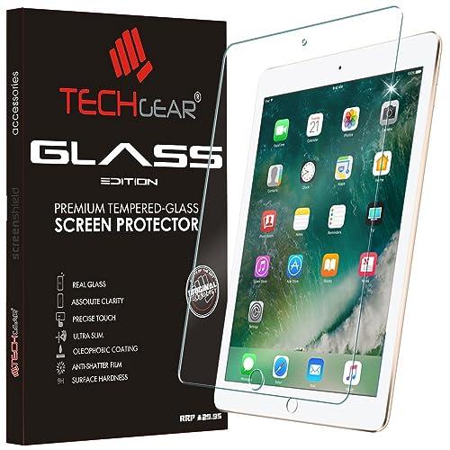 "TECHGEAR New Apple iPad 9.7"" (2018/2017) GLASS Edition Genuine Tempered Glass Screen Protector Guard Cover - Apple Pencil Compatible"