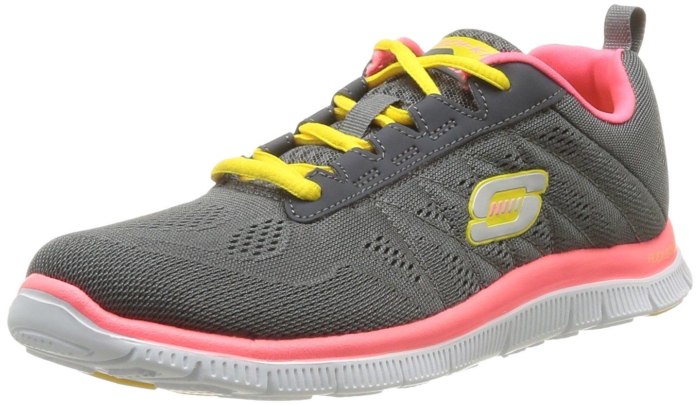 Skechers Damen Flex Appeal Sweet Spot Sneaker, Pink Purple  38 EU|Grau (Cchp)