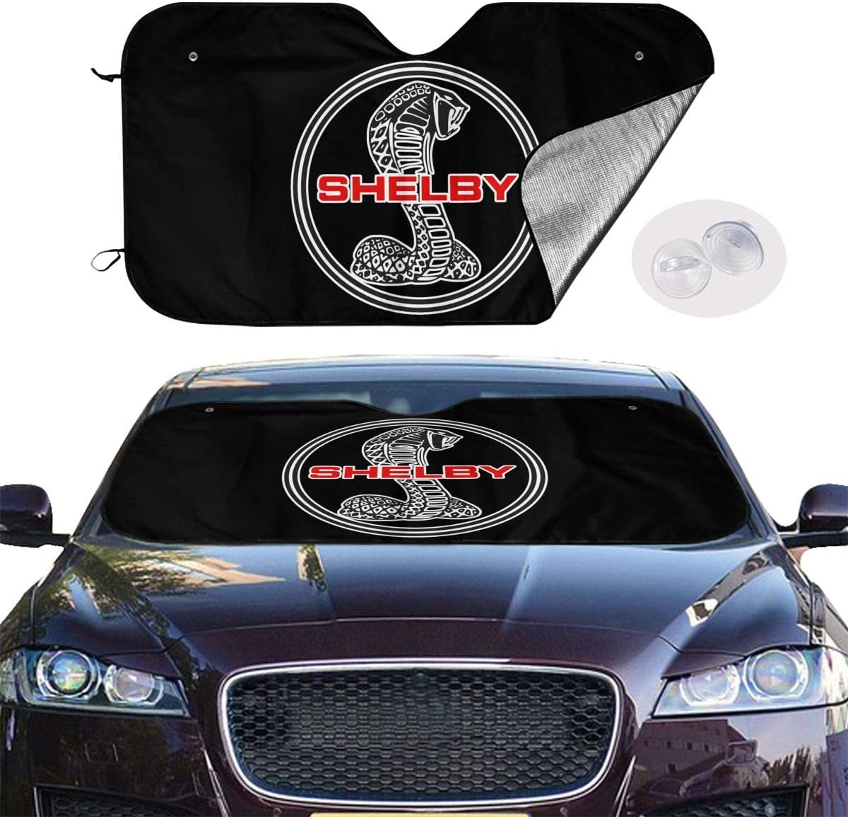 Keeps Your Vehicle Cool for Car Truck SUV CIWO Cks Ford Mustang SVT Cobra Shelby Automotive Windshield Sun Shade