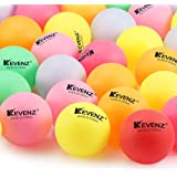 50 Counts KEVENZ 40mm Beer Ping-Pong Multipul Color Balls, Plastic Table Tennis Ball (Arcade Pong Games,not for table tennis training)