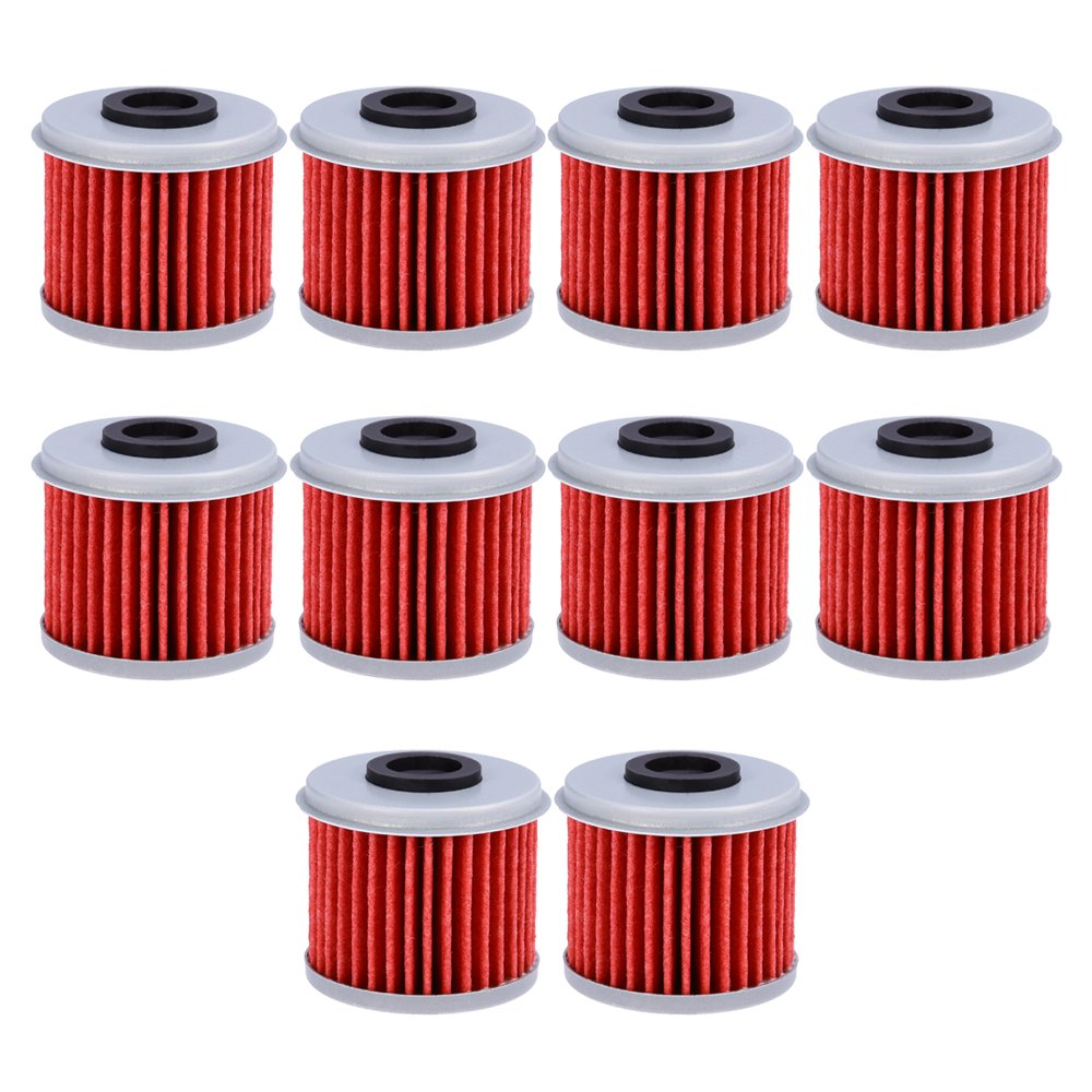 Oil Filter For ATV Honda TRX450R CRF250X CRF450X CRF250R CRF450R (Pack of 10) by QUIOSS (Image #1)