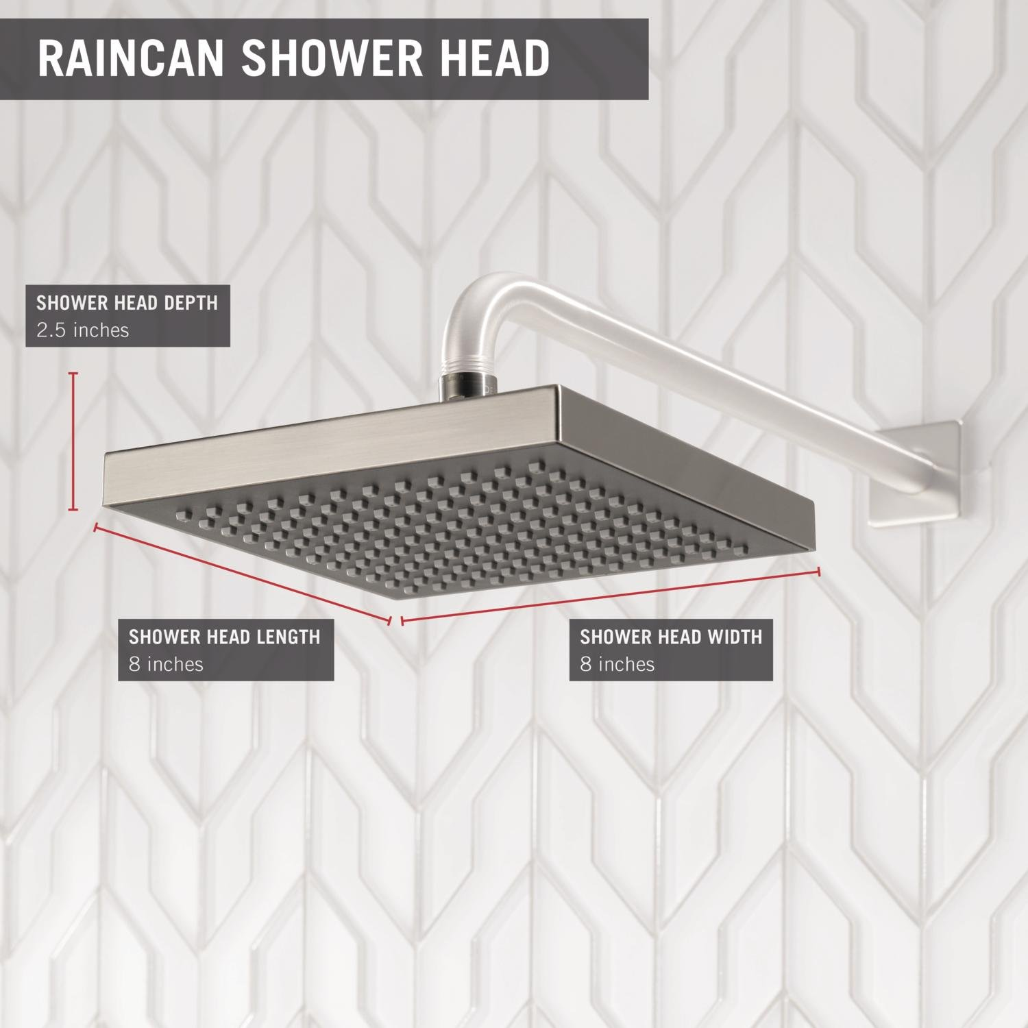 Stainless RP50841SS Delta Faucet Single-Spray Touch-Clean Rain Shower Head