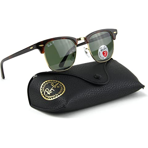 03397338245 Ray-Ban RB3016 990 58 Clubmaster Red Havana   Crystal Green Polarized Lens  49mm