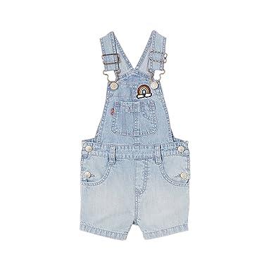 nouveau produit ffaab 694e3 Levi's Kids OVERLLSHORT OLY Salopette, Bleu (Denim 46), 2 ...