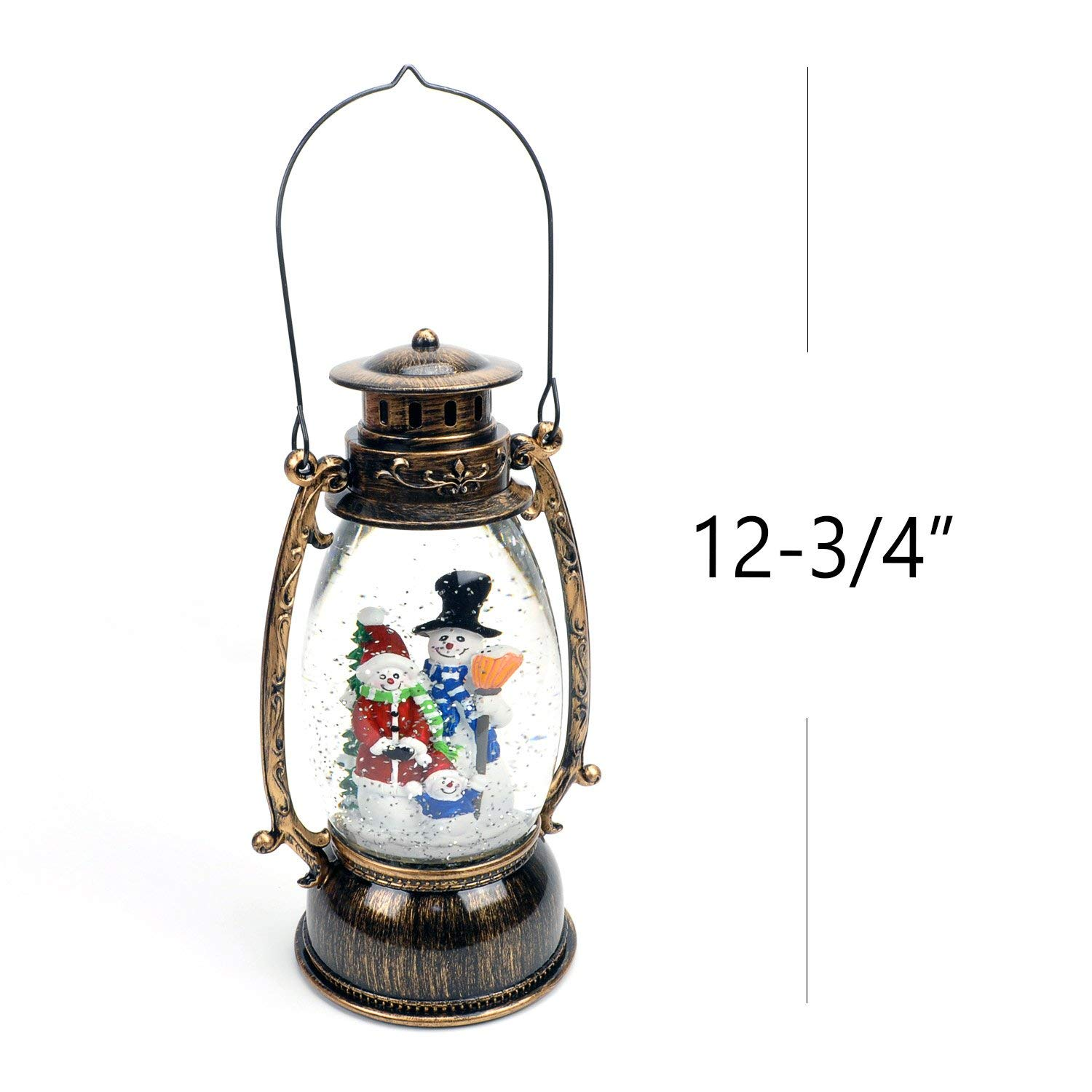 Christmas Snow Globes Australia.Evelyne Gmt 10314 Snowman Family Christmas Snow Globe Led Lighted Lantern Battery Operated Swirling Glitter Water For Holiday Season Home Decor
