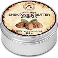 Shea Butter 200g - African Shea Butter - Ghana - Unrefined - 100% Pure & Natural - Cold Pressed - Best for Hair - Skin…
