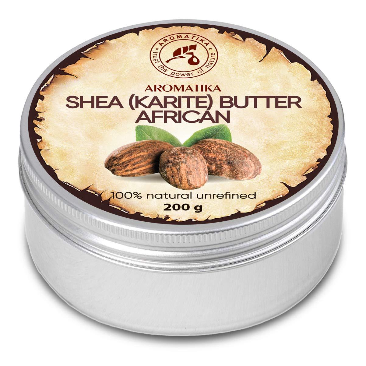 Manteca de Karité 200g - Africana - Sin Refinar - Prensado en Frío - 100% Puro y Natural - Mejor para el Cabello - Piel - Labio - Cara - Cuidado del ...