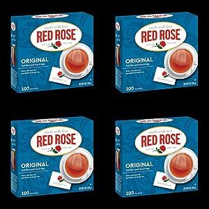 Red Rose Original Flavor Tea Bags, 100-Count (Pack of 4)