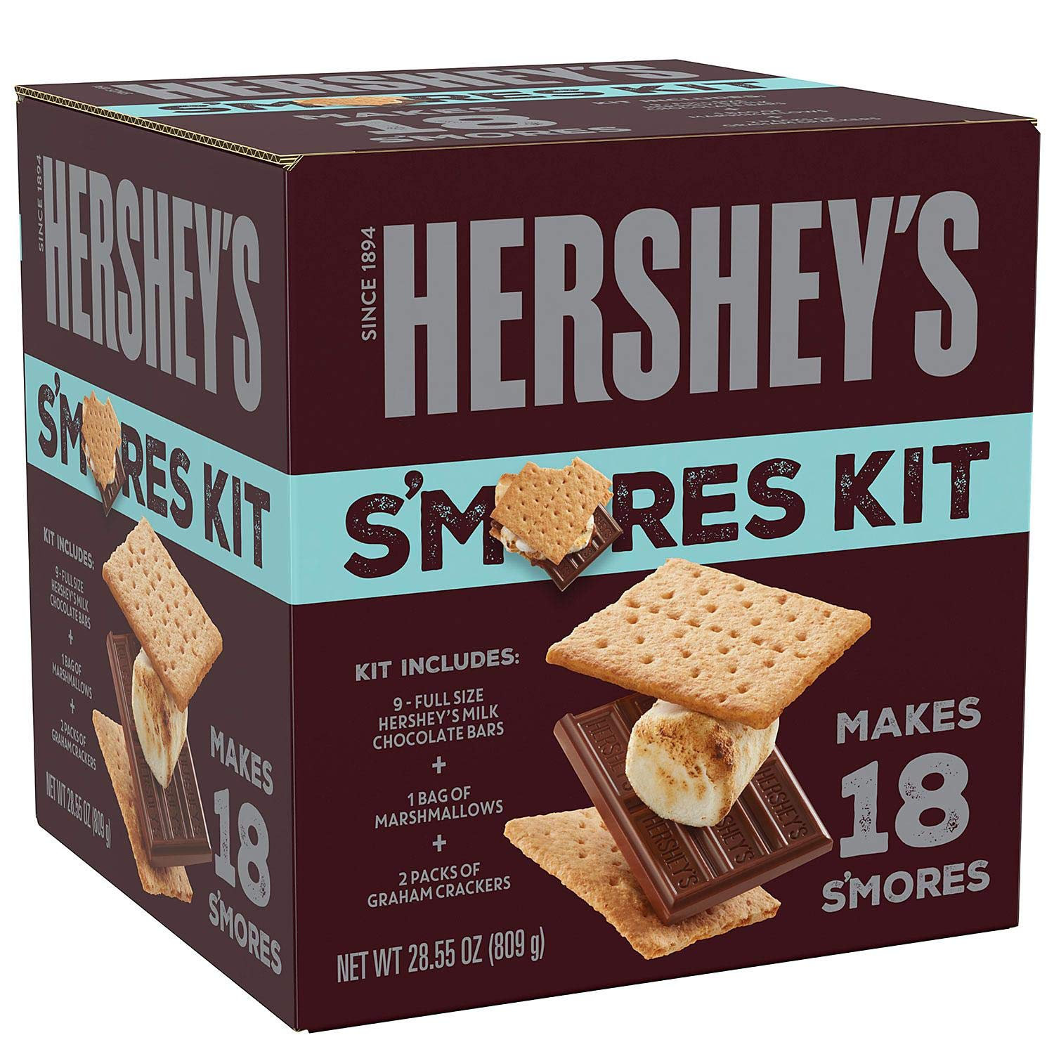 Hershey's S'mores Kit 18 S'mores Net Wt 28.55 Oz