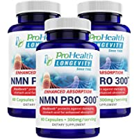 ProHealth NMN Pro 300 Enhanced Absorption 3-Pack (300 mg per 2 Capsule Serving, 60 Capsules per Bottle) Nicotinamide…