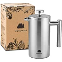 Groenenberg French Press cafetière rvs | 0,35 Liter (2 kopjes) | French press thermo verkrijgbaar in 3 maten | Cafetière…