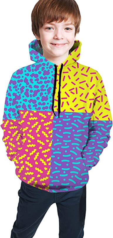 Amazon.com: Kids Hoodies, Mixing Line Dot 3D Hoodies for Kids Boys Girls  Active: Clothing