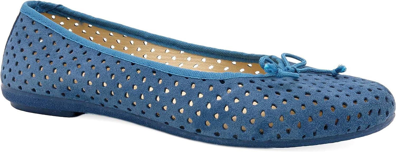 UK Navy Blue Genuine Suede Leather