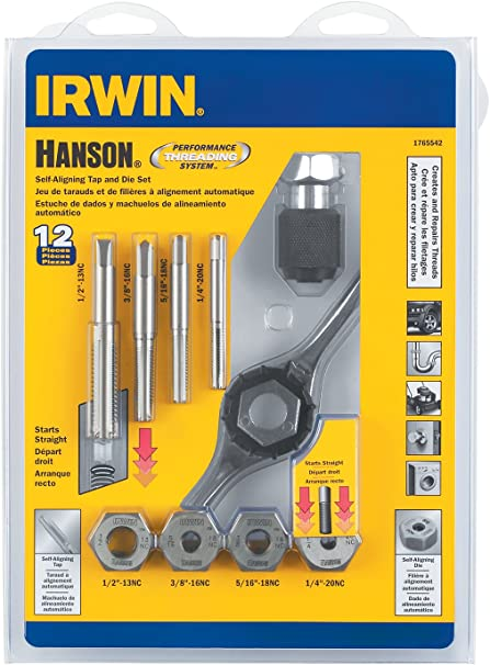 for Tap Die Extraction Hanson 8465 Die 1-8 1 13//16 NC Sh