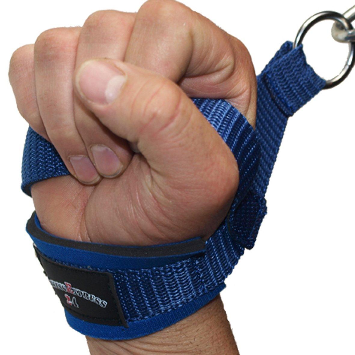 1 Paar Einhand Kabelzug Griffe Trainings Griff Latzug Einhandgriff schwarz//blau