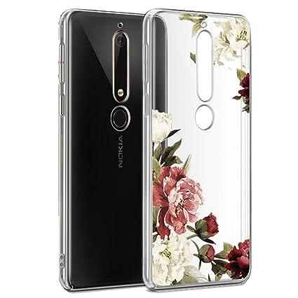 Amazon.com: Funda para Nokia 6.1, Nokia 6 2018 con flores ...