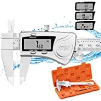 REXBETI Digital Caliper, 6 Inch Caliper Measuring Tool, IP54 Waterproof Protection with Stainless Steel, Micrometer…
