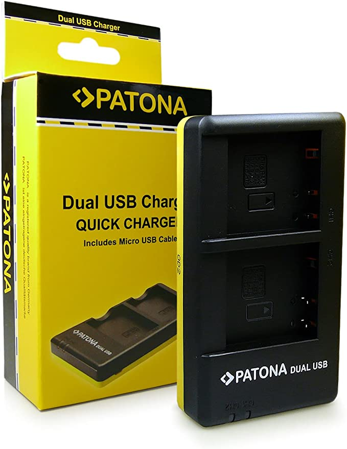 Patona Dual Schnell Ladegerät Dmw Blg10 Für Akkus Kamera