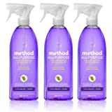 Method All-purpose Natural Surface Cleaner, French Lavender, 28 ounce (3 Count)