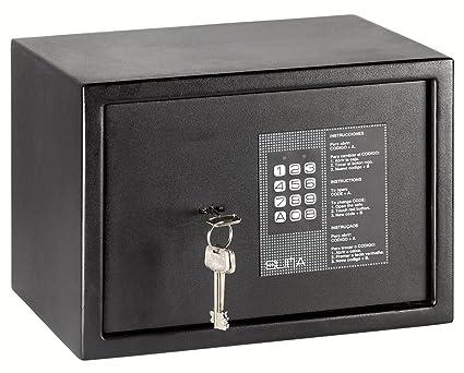 Arregui 31010 Caja fuerte de sobreponer electrónica con llave. 350x250x250 mm Negro texturado 350 x
