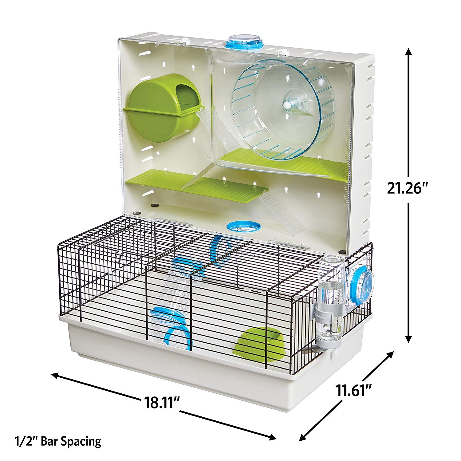 MidWest Homes for Pets Hamster Cage | Awesome Arcade Hamster Home | 18.11'' x 11.61'' x 21.26'' by MidWest Homes for Pets (Image #2)