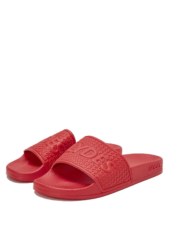 TALLA 44 EU. SLYDES Cali Slider Sandalias de Hombres Rojo