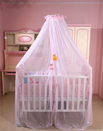 Amazon Com Ruihome Hanging Dome Mosquito Net For Baby Cribs