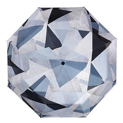Paraguas automático Plegable Grande Femenino Sol Simple sombrilla protección Solar QIQIDEDIAN